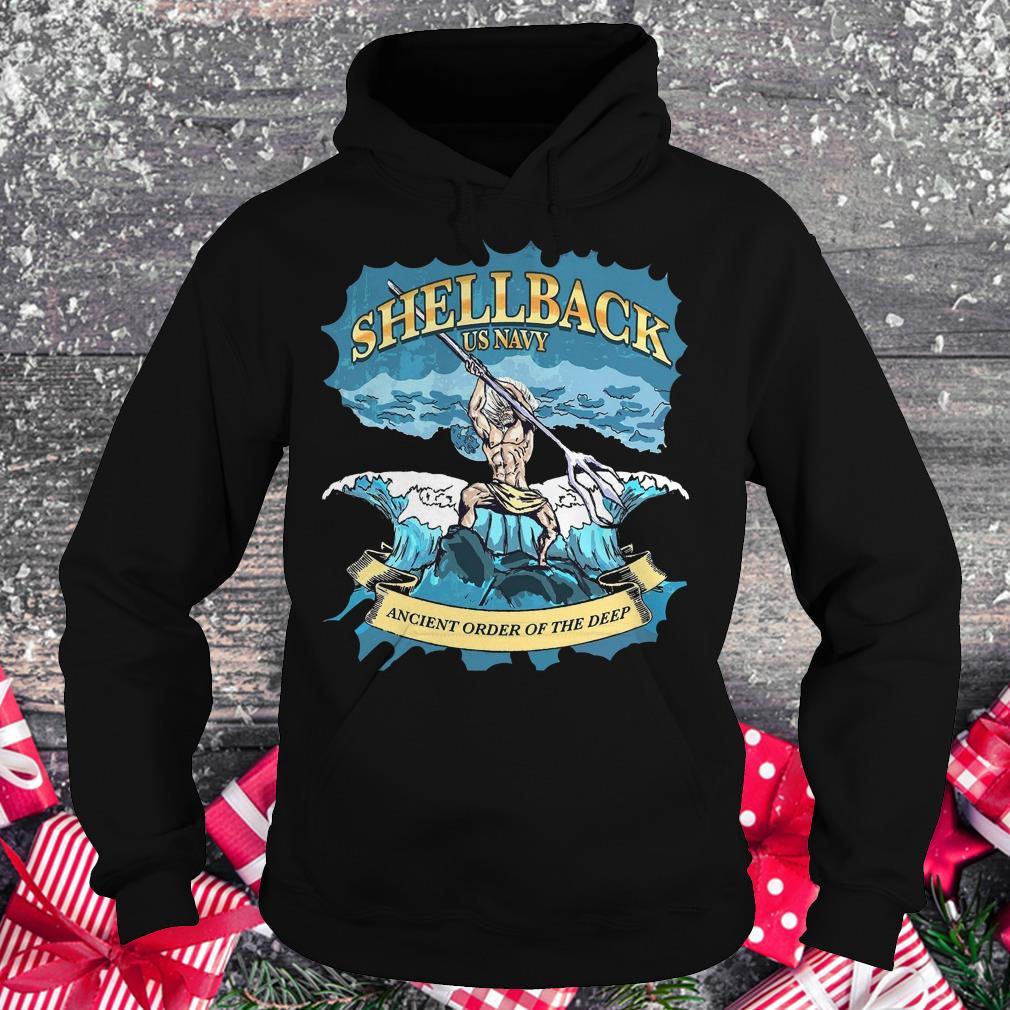 Original Shellback Us Navy Ancient Order Of the deep shirt Hoodie