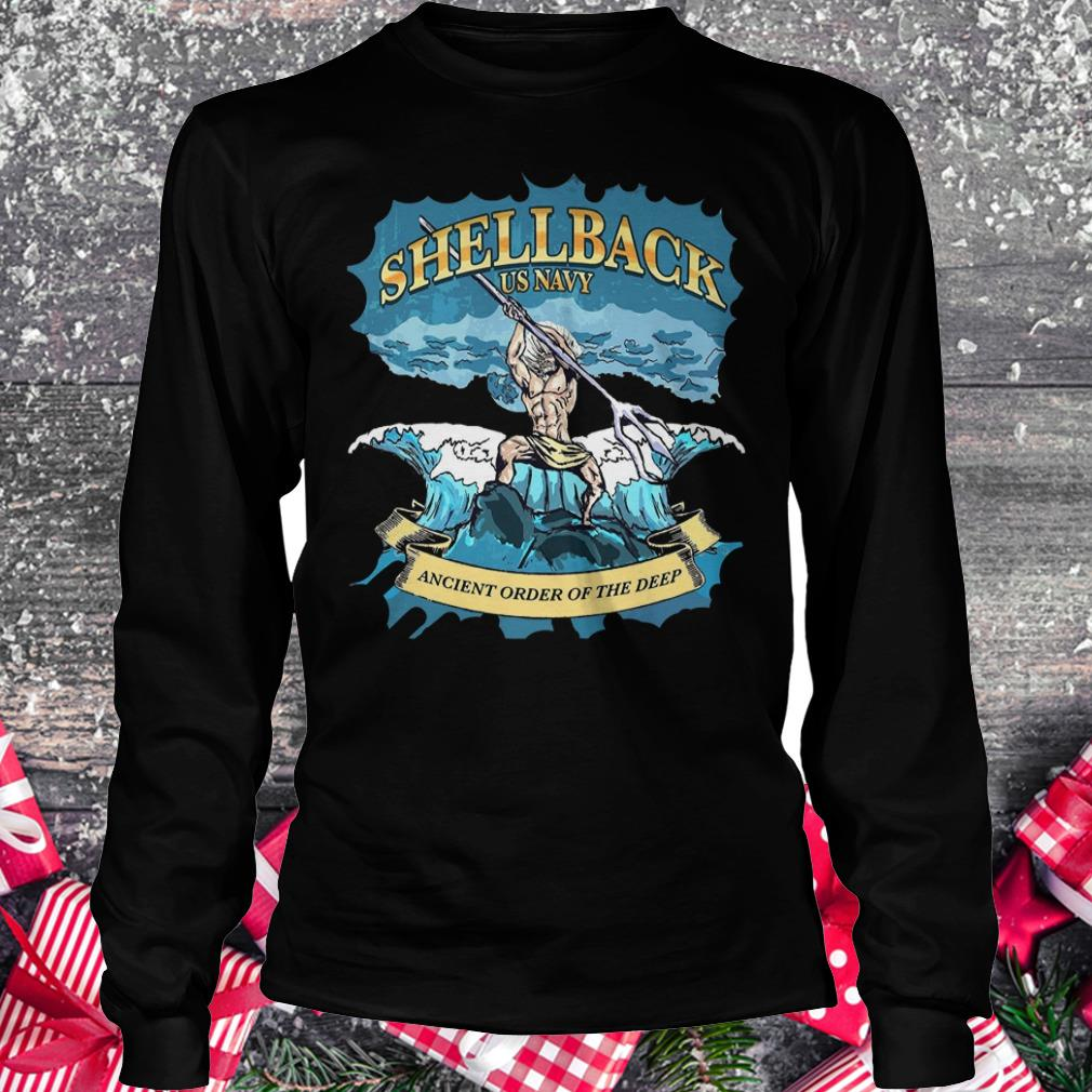Original Shellback Us Navy Ancient Order Of the deep shirt Longsleeve Tee Unisex