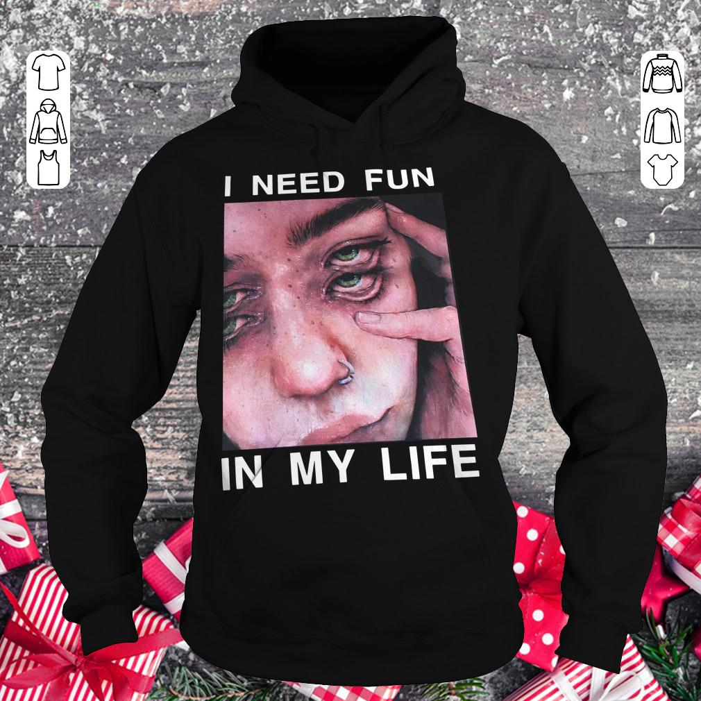 Original The Drums Surreal Glitchy I need fun in my life shirt Hoodie