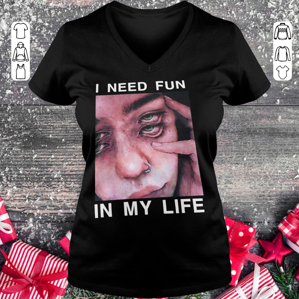 Original The Drums Surreal Glitchy I need fun in my life shirt Ladies V-Neck