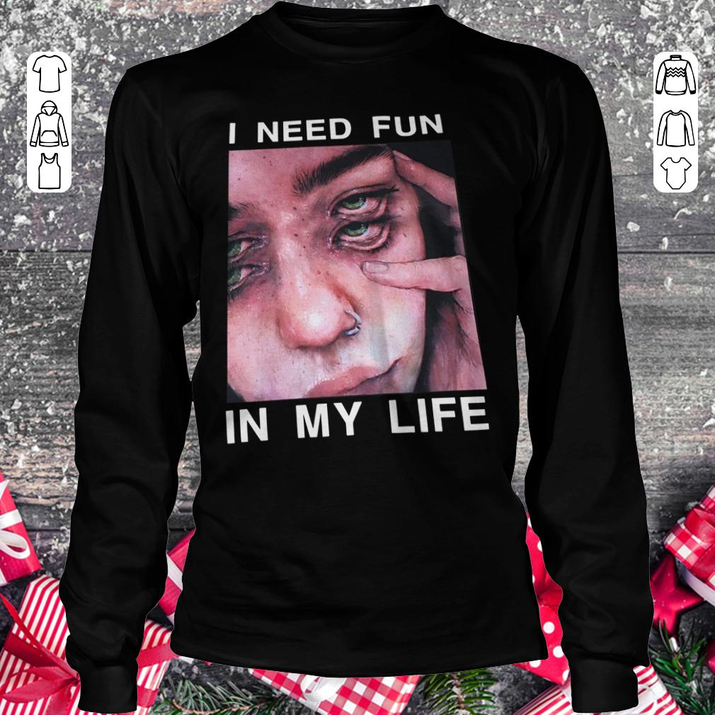 Original The Drums Surreal Glitchy I need fun in my life shirt Longsleeve Tee Unisex