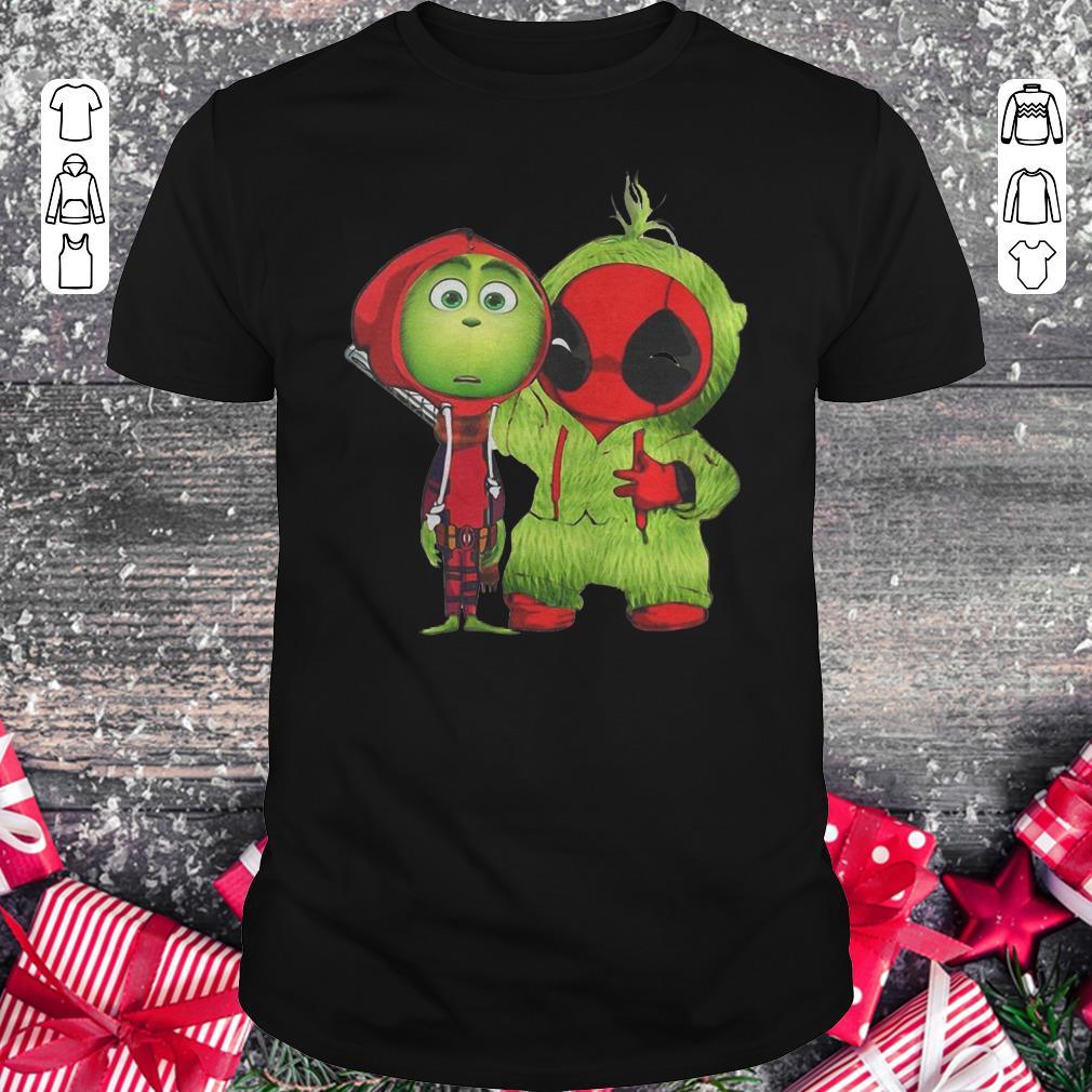 Premium Baby Deadpool And Baby Grinch Christmas Shirt Classic Guys Unisex Tee 1.jpg