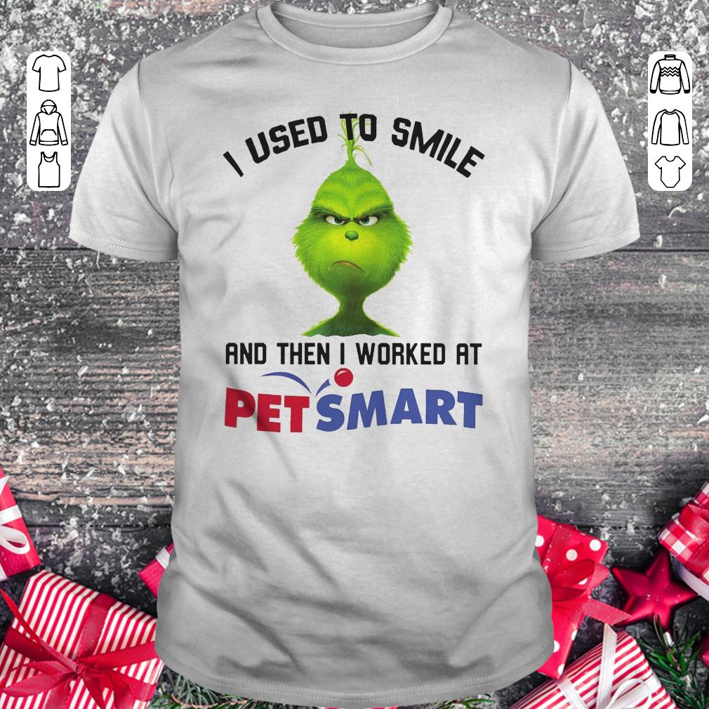 Premium Grinch I Used To Smile And Then I Worked At Petsmart Shirt Classic Guys Unisex Tee 1.jpg