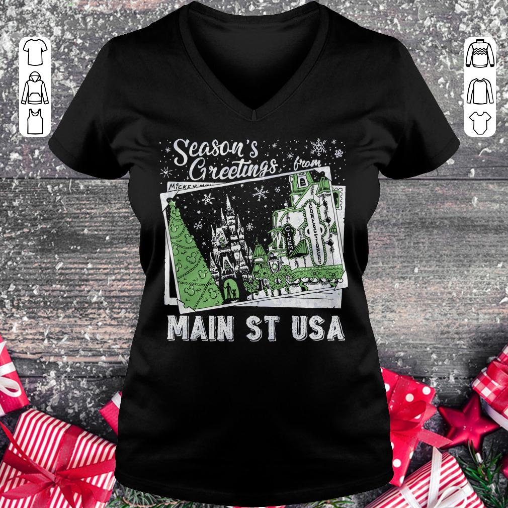 Premium Season's Greetings from Main St USA shirt Ladies V-Neck