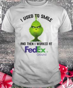 Pretty Grinch I Used To Smile And Then I Worked At Fedex Ground Shirt Classic Guys Unisex Tee 1.jpg