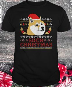 Pretty Shiba Inu Such Christmas Sweater Shirt Classic Guys Unisex Tee 1.jpg
