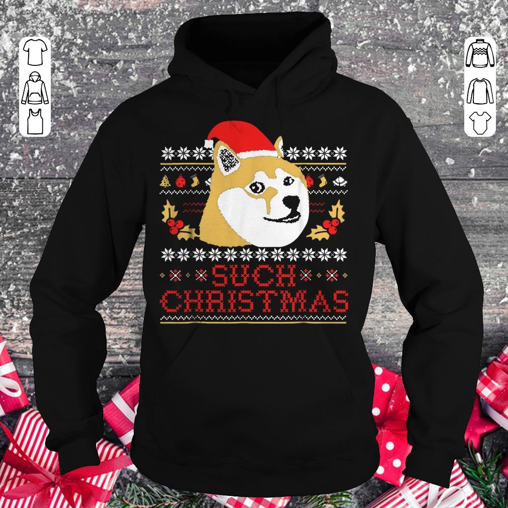 Pretty Shiba Inu Such Christmas Sweater shirt Hoodie