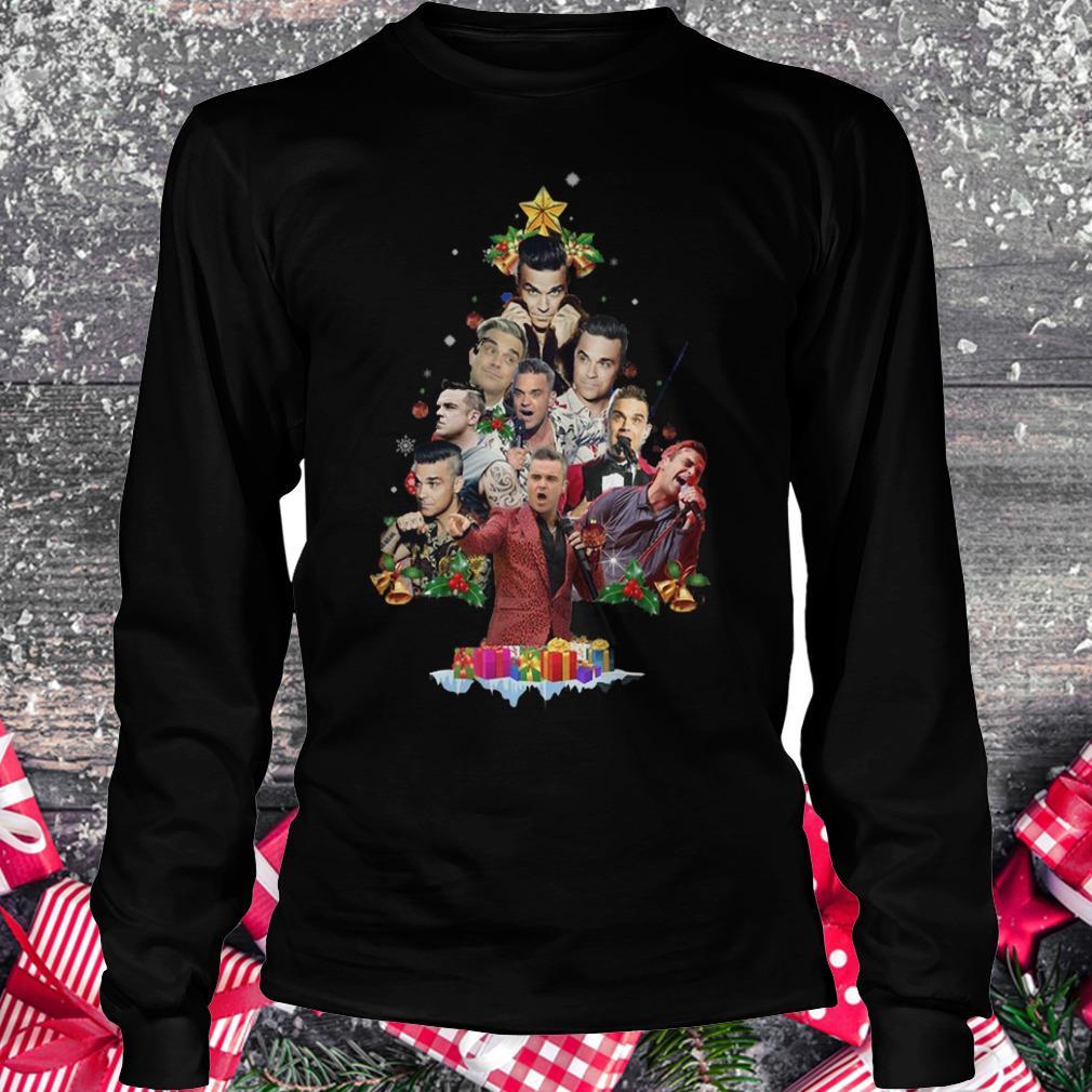 Robbie Williams Christmas Tree shirt Longsleeve Tee Unisex