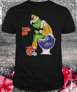 Top Grinch Santa Pittsburgh Steelers Baltimore Ravens Toilet Shirt Sweater Classic Guys Unisex Tee 1.jpg