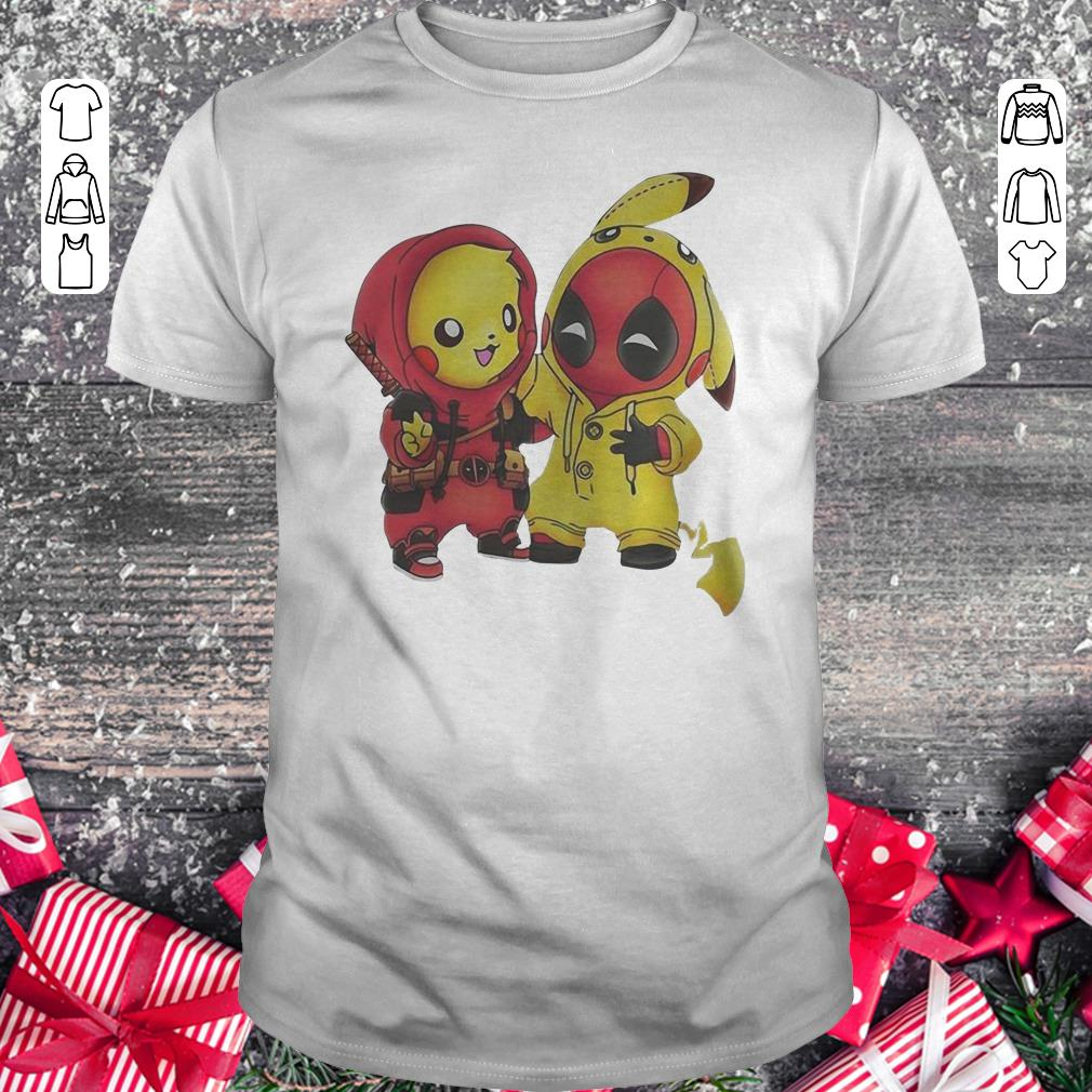 Top Pokemon Pikachu And Deadpool Shirt Classic Guys Unisex Tee 1.jpg