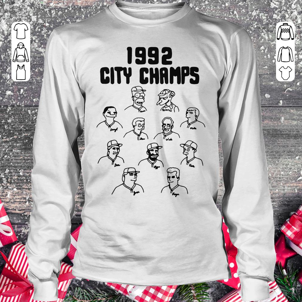 Top The Simpsons 1992 city champs Homer shirt Longsleeve Tee Unisex