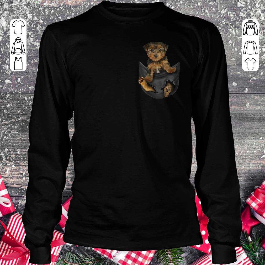 Yorkies Tiny Pocket shirt Longsleeve Tee Unisex