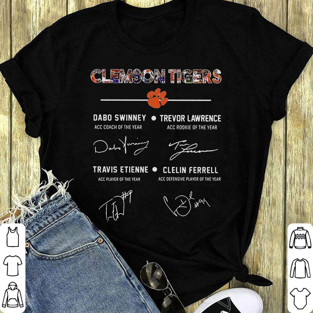 Awesome Clemson Tigers Signature Dabo Swinney Trevor Lawrence Travis Etienne Clelin Ferrel Shirt 1 1.jpg