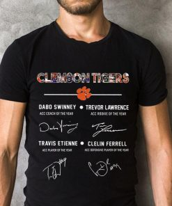 Awesome Clemson Tigers Signature Dabo Swinney Trevor Lawrence Travis Etienne Clelin Ferrel Shirt 2 1.jpg
