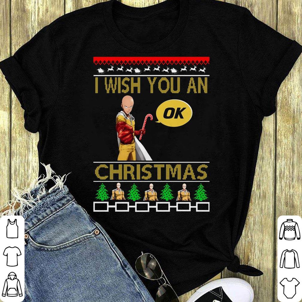 Awesome Saitama I Wish You An Ok Christmas Shirt 1 1.jpg