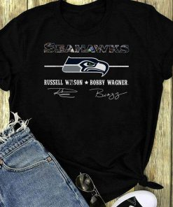 Awesome Seahawks Russell Wilson Bobby Wagner Signature Shirt 1 1.jpg