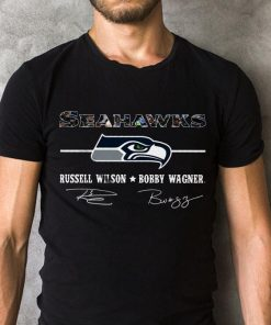 Awesome Seahawks Russell Wilson Bobby Wagner Signature Shirt 2 1.jpg