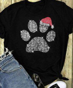 Dog Paw Diamond Santa Hat Shirt 1 1.jpg