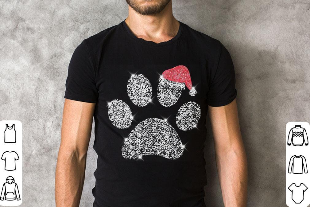Dog Paw Diamond Santa Hat Shirt 2 1.jpg