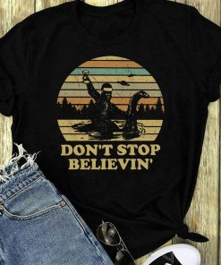 Hot Bigfoot Riding On Nessie Loch Ness Monster Don T Stop Believin Shirt 1 1.jpg