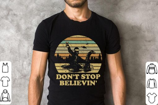 Hot Bigfoot Riding On Nessie Loch Ness Monster Don T Stop Believin Shirt 2 1.jpg