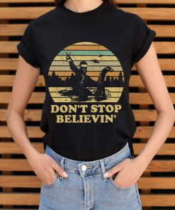 Hot Bigfoot Riding On Nessie Loch Ness Monster Don T Stop Believin Shirt 3 1.jpg