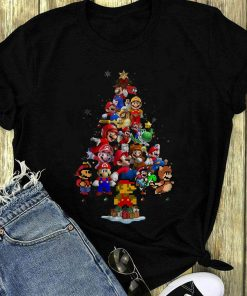 Nice Super Mario Christmas Tree Shirt 1 1.jpg
