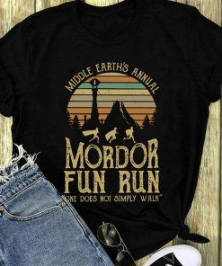 Original Sunset Middle Earth S Annual Mordor Fun Run One Does Not Simply Walk Shirt 1 1.jpg