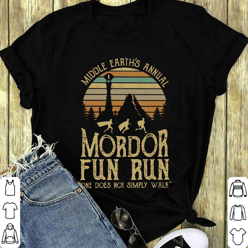 000d1413 Original Sunset Middle Earth S Annual Mordor Fun Run One Does Not Simply  Walk Shirt 1