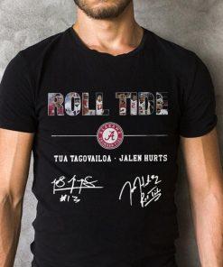 Pretty Alabama Roll Tide Signature Tua Tagovailoa Jalen Hurts Shirt 2 1.jpg