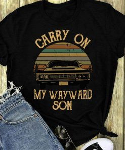 Pretty Supernatural Carry On My Wayward Son Vintage Retro Sunset Version Shirt 1 1.jpg