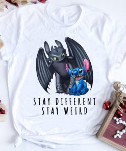 Pretty Toothless And Stitch Stay Different Stay Weird Shirt 1 1.jpg