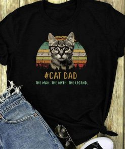 The Sunset Cat Dad The Man The Myth The Legend Shirt 1 1.jpg