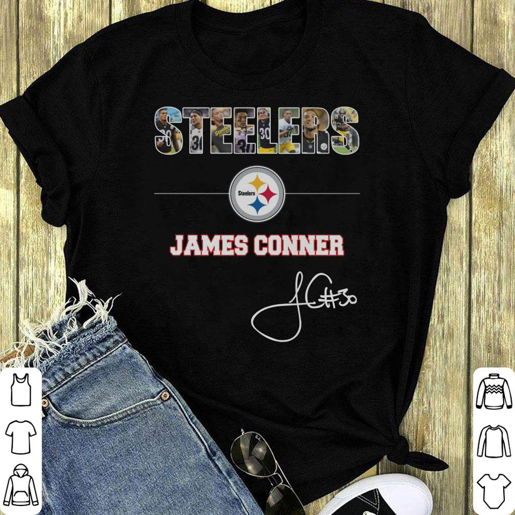 the best attitude 76f7b bb764 Top Pittsburgh Steelers NFL James Conner Signature shirt