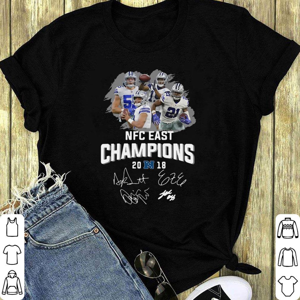 ad2c724b Original Dallas Cowboys players NFC East champions 2018 signature shirt