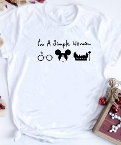 I M A Simple Woman I Like Harry Potter Disney And Friends Shirt 1 1.jpg