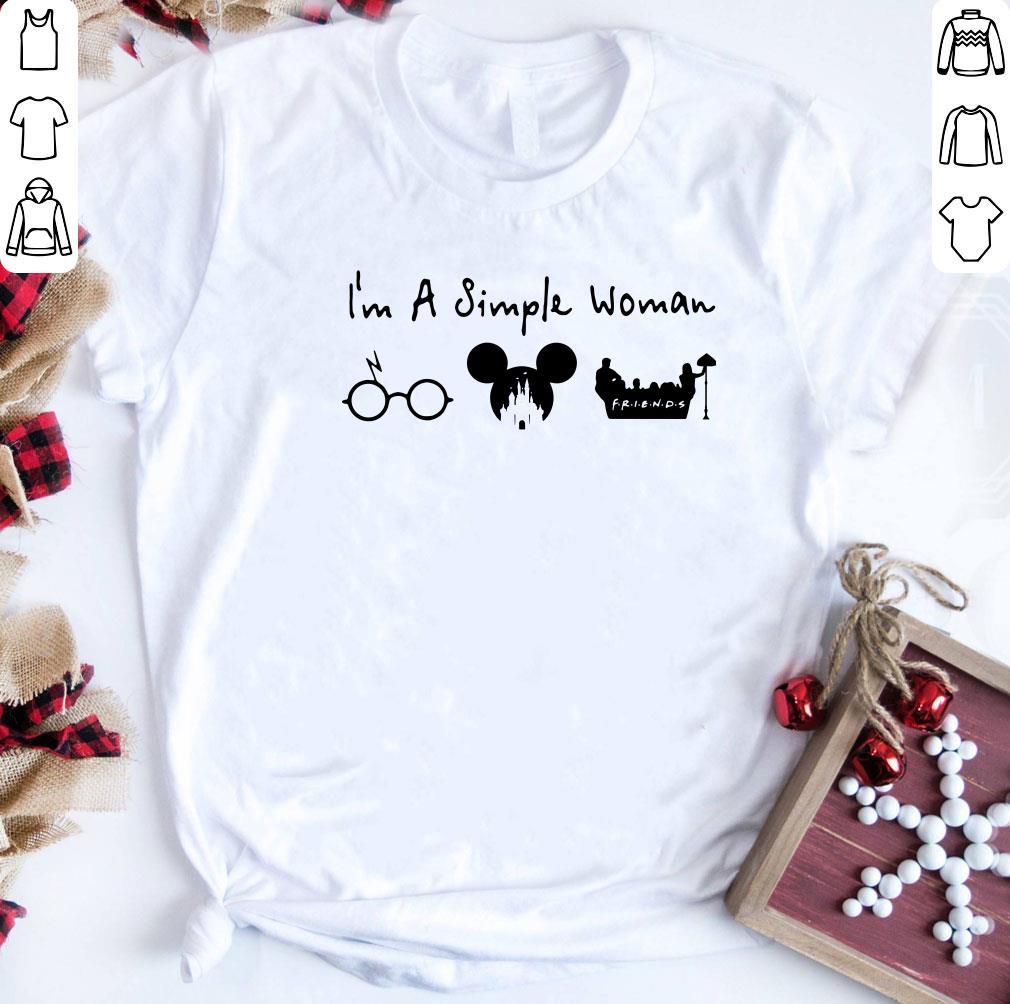 I M A Simple Woman I Like Harry Potter Disney And Friends Shirt 1 1.jpg