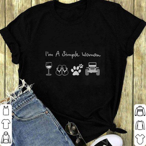 I M A Simple Woman Glass Wine Flip Flop Dog Paw Jeep Shirt 1 1.jpg