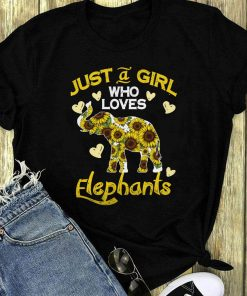 Just A Girl Who Loves Elephants Sunflower Shirt 1 1.jpg