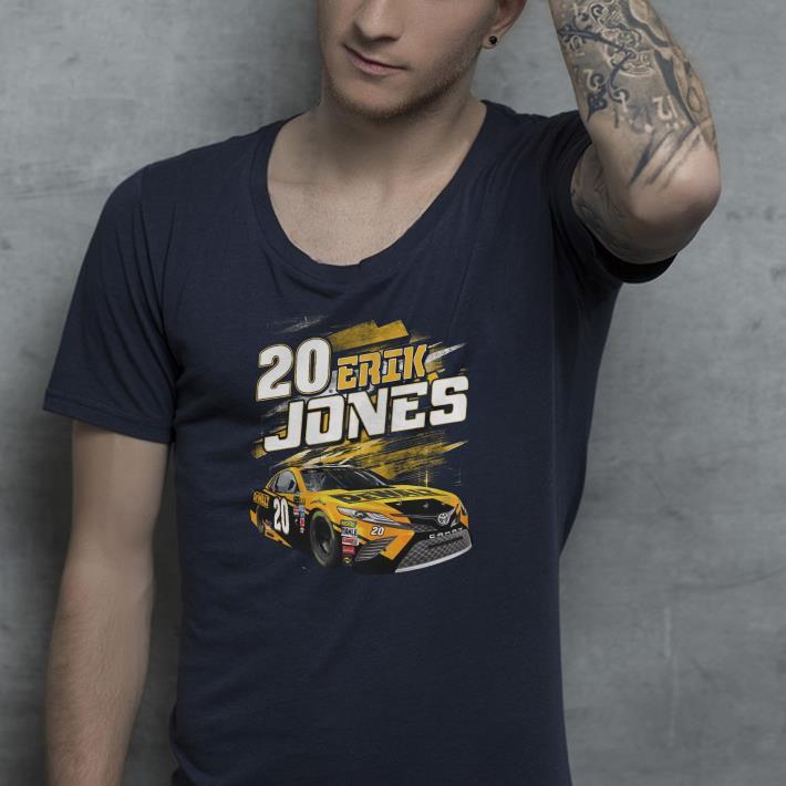 2 Eril Jones black dewalt power car shirt