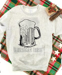 American Irish St Patrick s Day Beer Flag White shirt 1 1 247x296 - American Irish St Patrick's Day Beer Flag White shirt