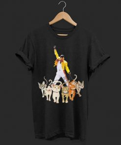 Freddie Mercury walking with his cats shirt 1 1 247x296 - Freddie Mercury walking with his cats shirt