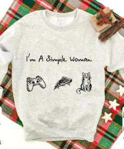 I m a simple woman Game Handle Pizza Cat shirt 1 1 247x296 - I'm a simple woman Game Handle Pizza Cat shirt