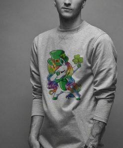LGBT Dabbing unicorn St Patrick s day shirt 2 1 247x296 - LGBT Dabbing unicorn St. Patrick's day shirt