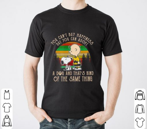 Snoopy Charlie brown you can t buy happiness but you can adopt shirt 2 1 510x447 - Premium Snoopy Charlie brown you can't buy happiness but you can adopt shirt