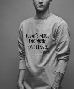 Today s mood two words one finger redhead shirt 2 1 247x296 - Today's mood two words one finger redhead shirt