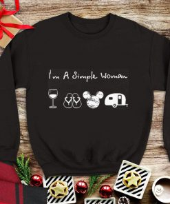 Wine flip flop Mickey camping I m a simple woman shirt 1 1 247x296 - Funny Wine flip flop Mickey camping I'm a simple woman shirt