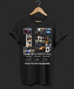 15 Years of Supernatural all signature thank you for the memories shirt 1 1 247x296 - 15 Years of Supernatural all signature thank you for the memories shirt