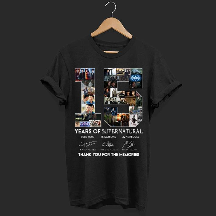 15 Years of Supernatural all signature thank you for the memories shirt
