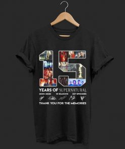 15 years of Supernatural 2005 2020 15 seasons 327 episodes thank shirt 1 1 247x296 - 15 years of Supernatural 2005-2020 15 seasons 327 episodes thank shirt